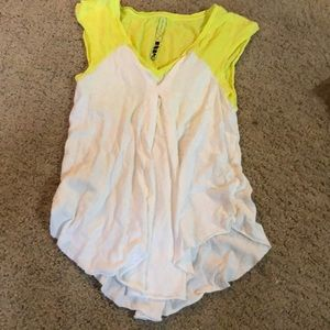 White and neon yellow tank